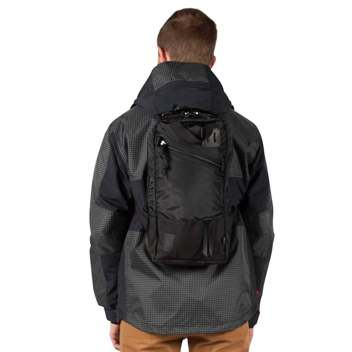 Topo Designs Trip Pack Ballistic Black, perfecte rugzak voor elke dag tocht