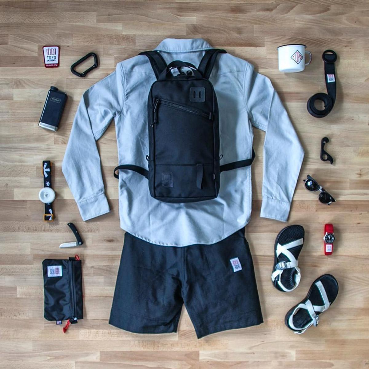 Topo Designs Trip Pack Ballistic Black, perfecte rugtas voor een dagtrip