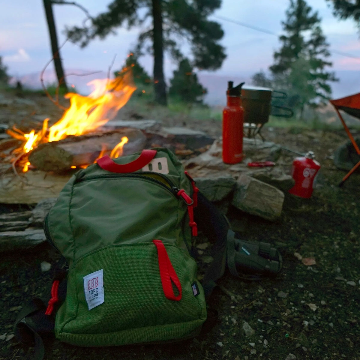 Topo Designs Trip Pack Olive, perfecte rugzak voor elke dag tocht