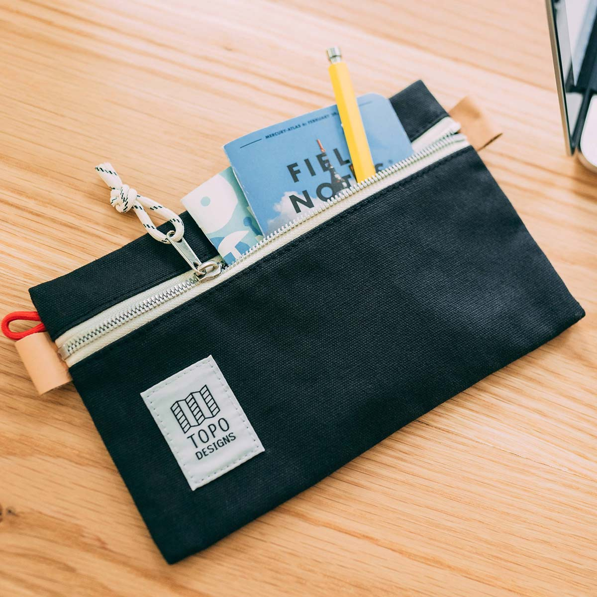 Topo Designs Accessory Bags Canvas Black 3 Sizes, built for durability and organization