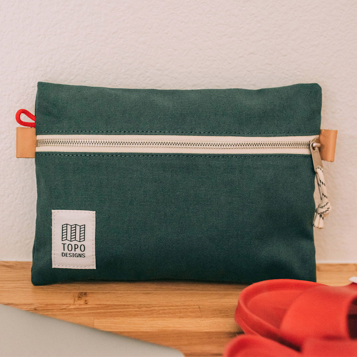 Topo Designs Accessory Bags Canvas Forest 3 Sizes, built for durability and organization