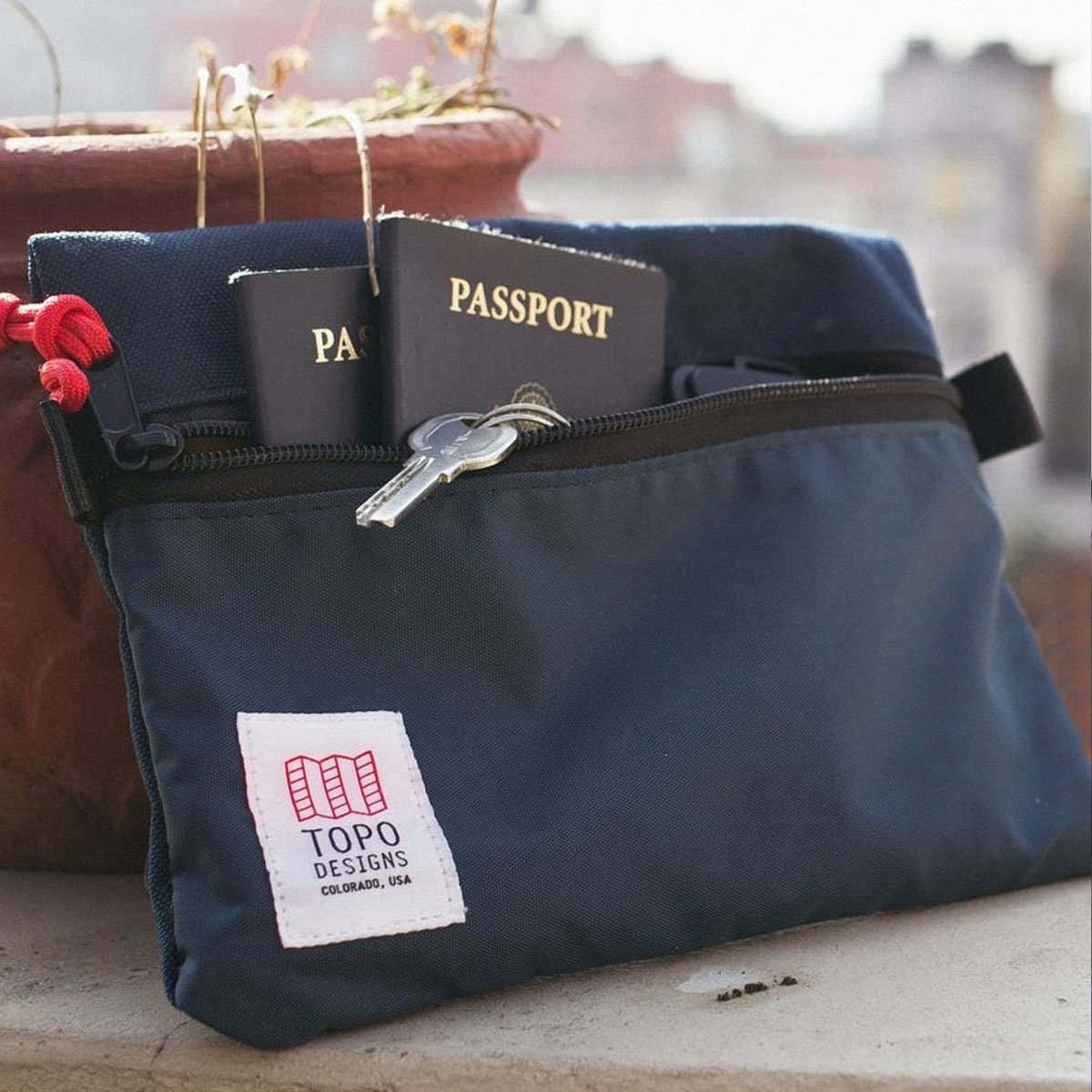 Topo Designs Accessory Bags Navy 3 Sizes, Easy traveling, keeps the inside of your pack neat and organized