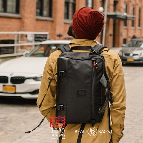 Topo Designs Commuter Briefcase Ballistic/Black Leather, The ultimate briefcase for everyday use