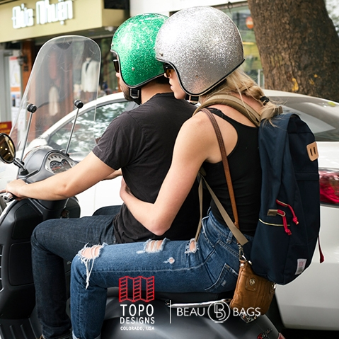 Topo Designs Daypack Navy, sterke rugzak in 1000D Cordura met 15 inch laptopvak
