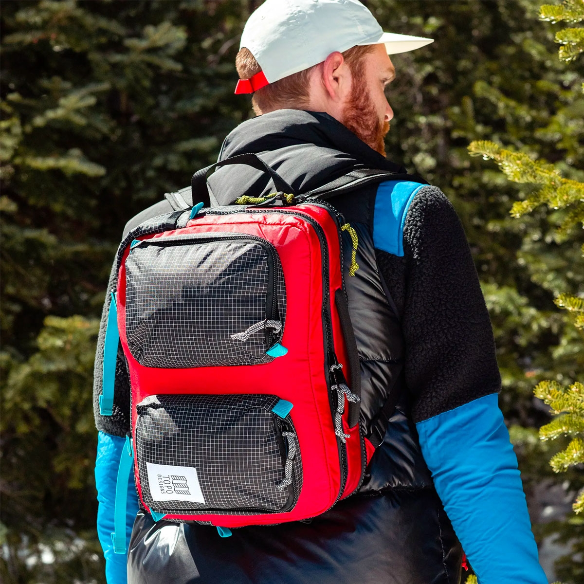Topo Designs Global Briefcase Red/Black, the perfect bag for everyday carry