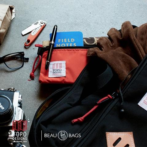 Topo Designs Mountain Briefcase Black, voor naar je werk, in de stad of een reis rond de wereld