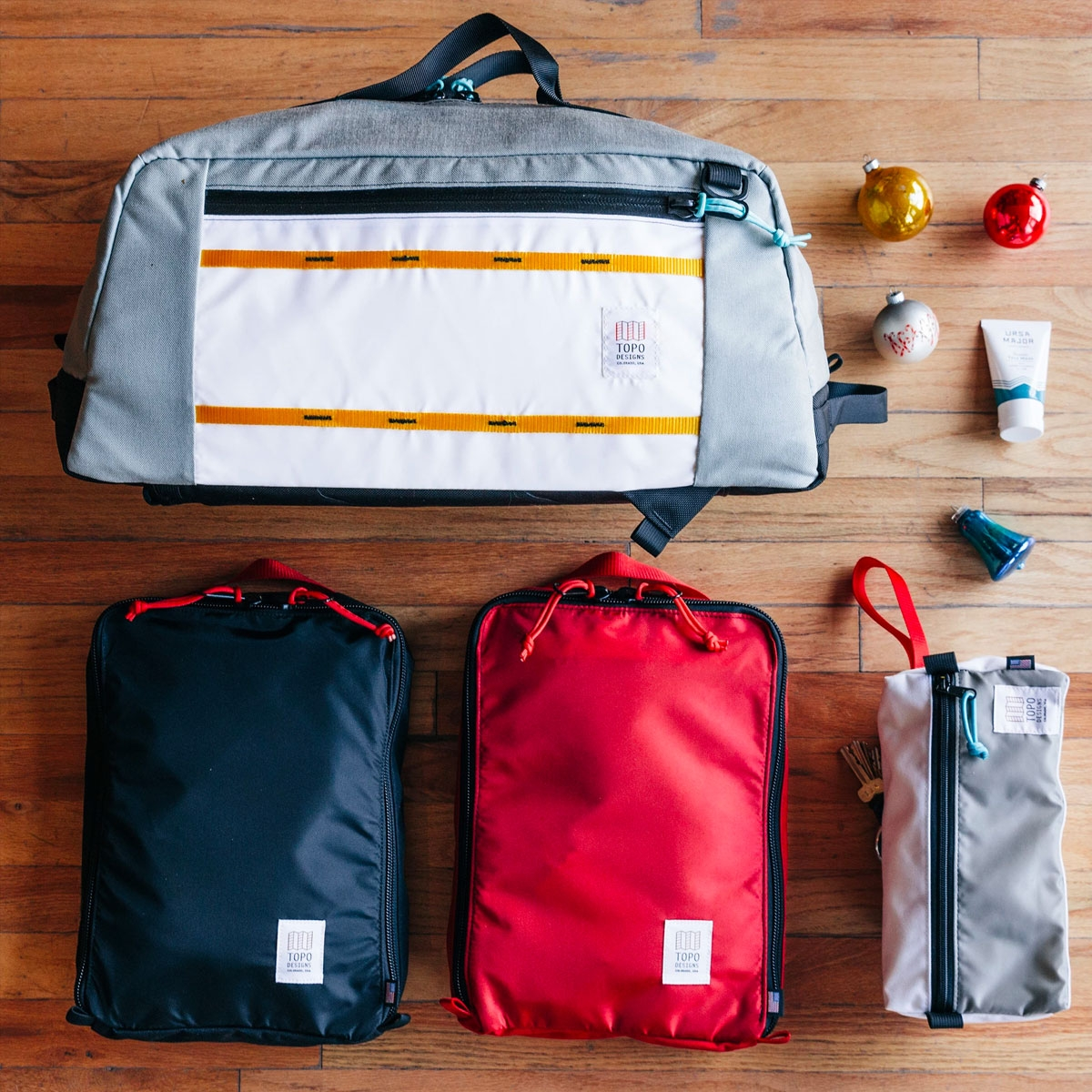 Topo Designs Pack Bags Navy, a simple, durable and highly functional way to organize your luggage