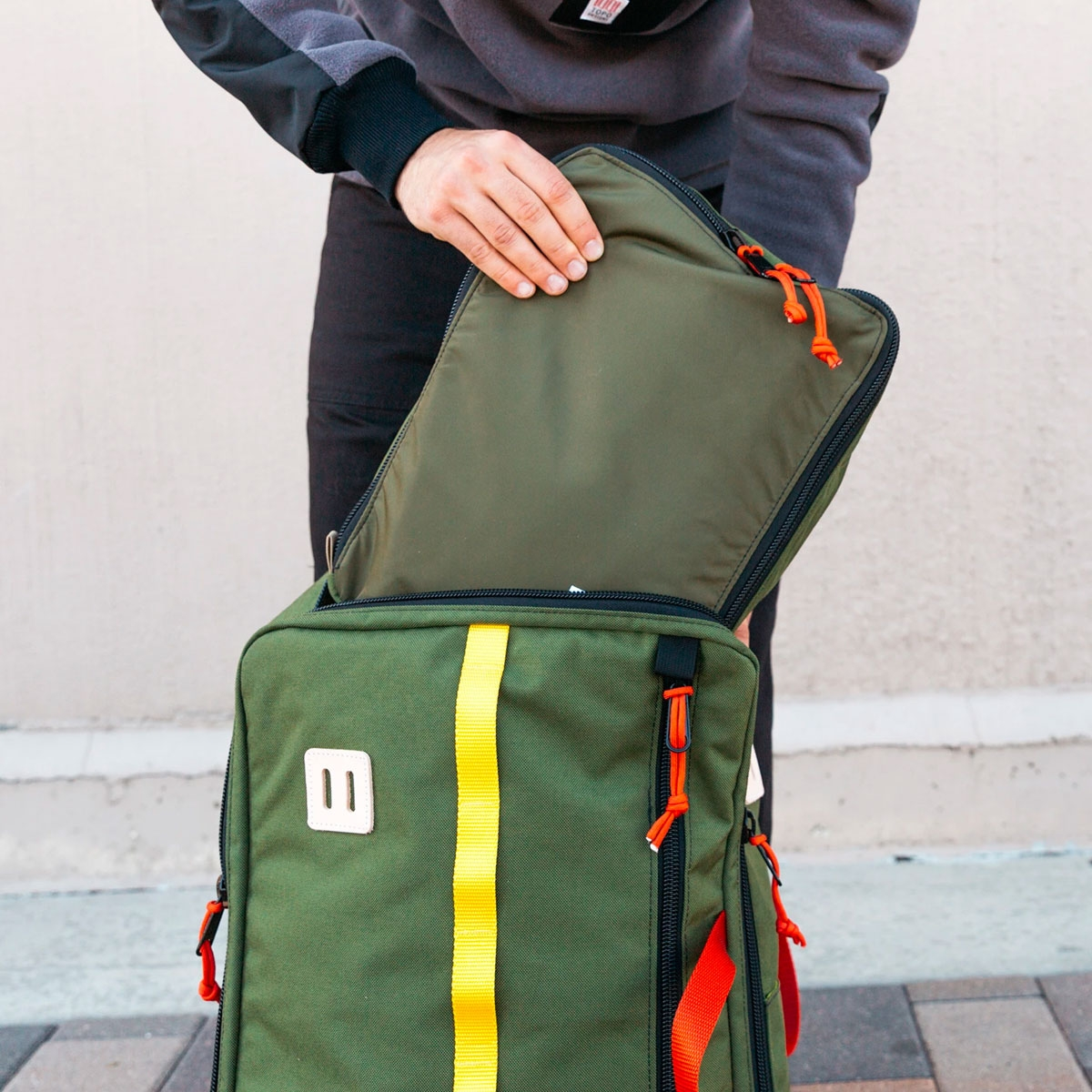 Topo Designs Pack Bags Olive, a simple, durable and highly functional way to organize your luggage