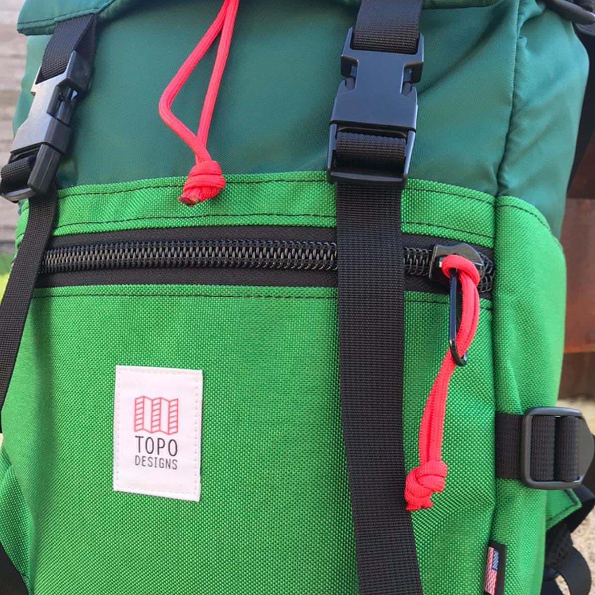 Topo Designs Rover Pack Forrest Kelly, de ultieme rugzak voor dagelijks gebruik