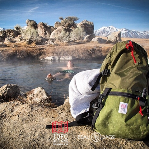 Topo Designs Rover Pack Olive lifestyle