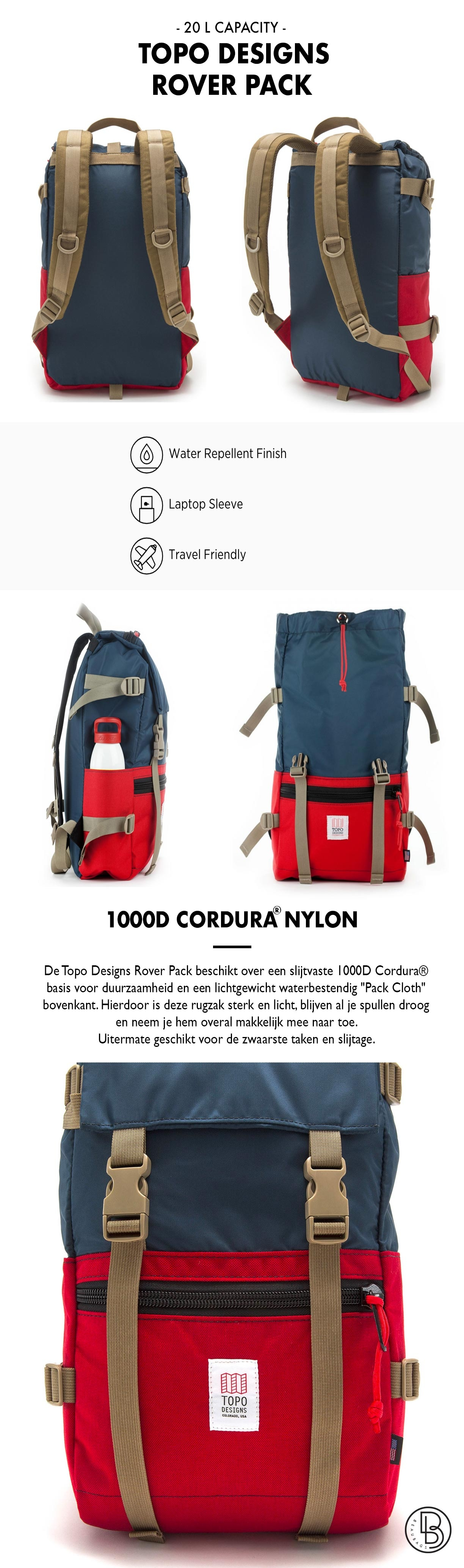 Topo Designs Rover Pack Productinformatie