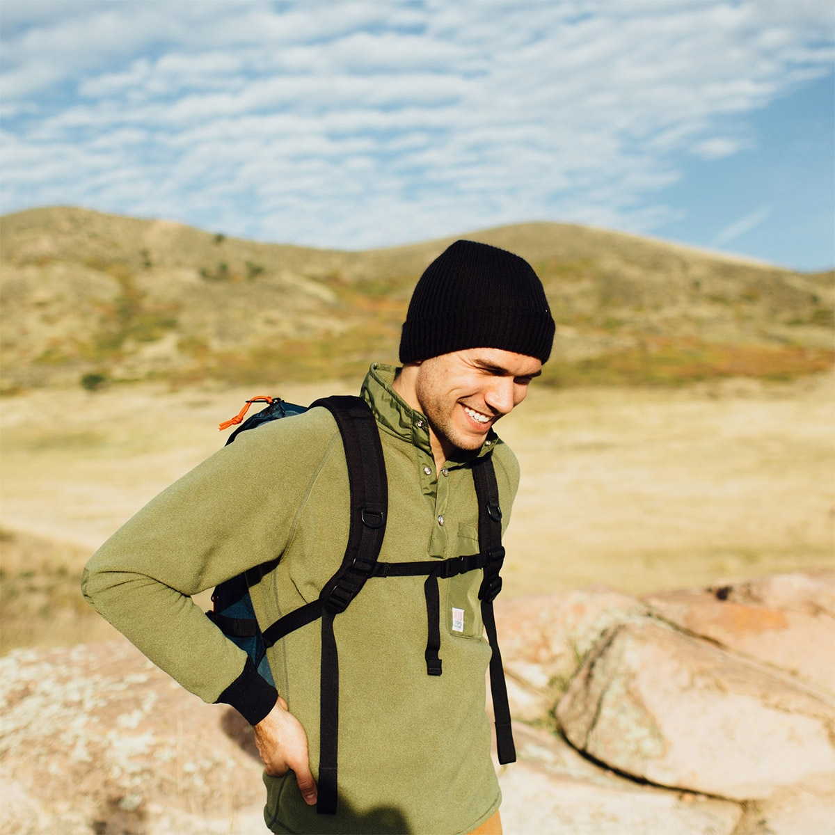 Topo Designs Watch Cap Black, wonderfully simple cap made with soft acrylic yarn to keep you warm