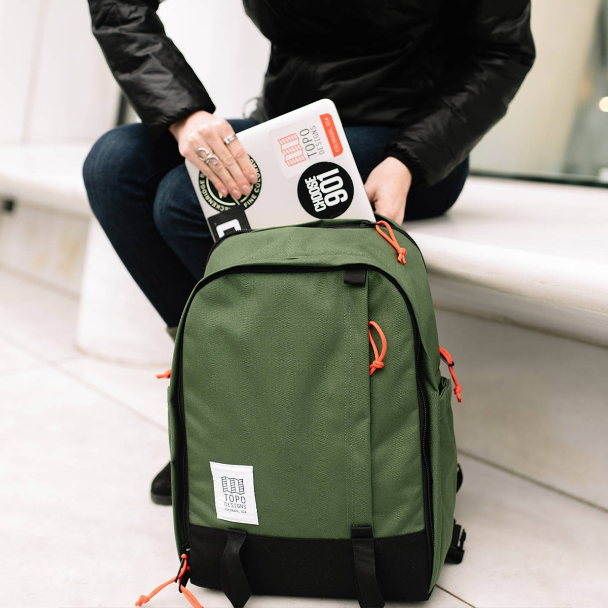 Topo Designs Core Pack, lifestyle