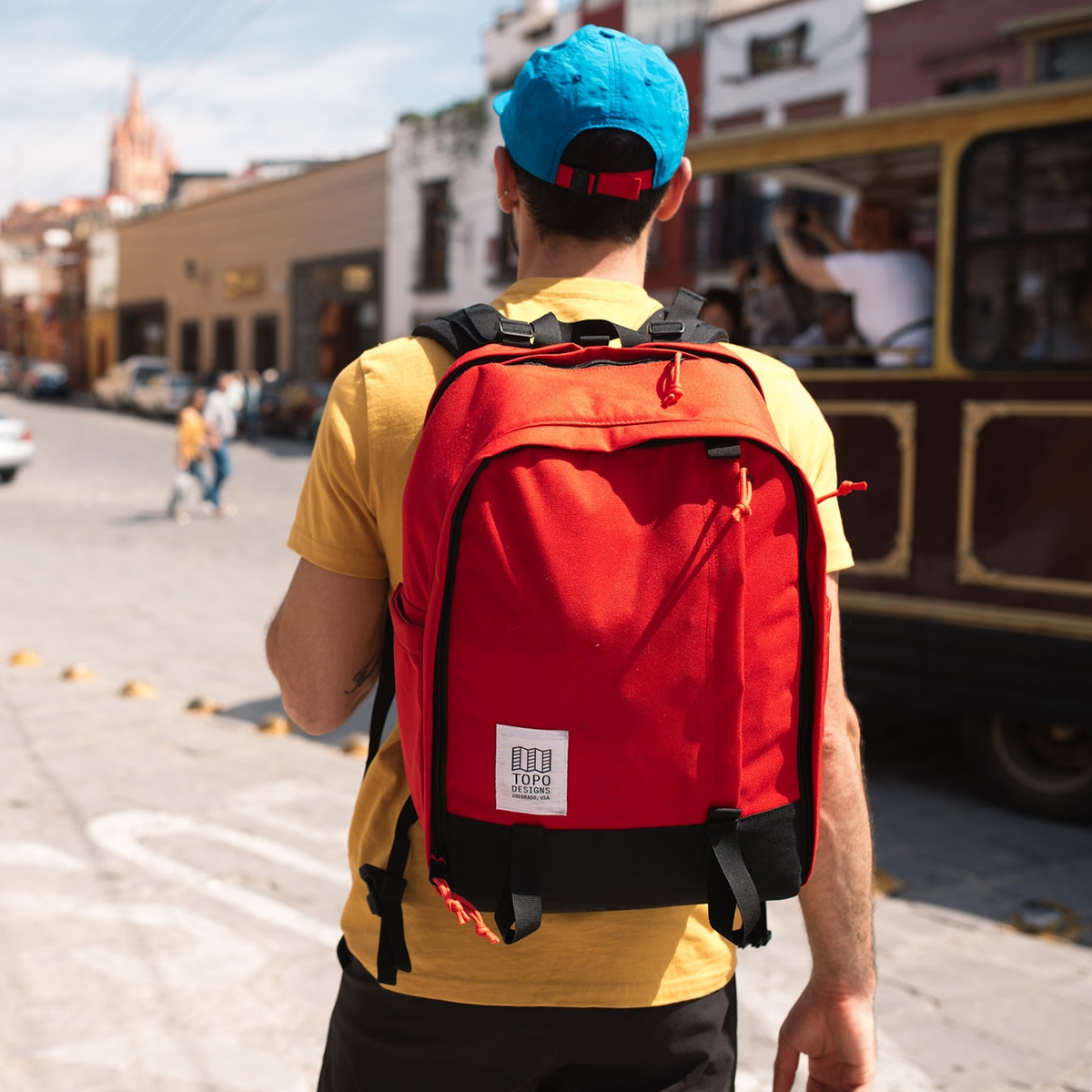 Topo Designs Core Pack Red, ideal backpack for daily use