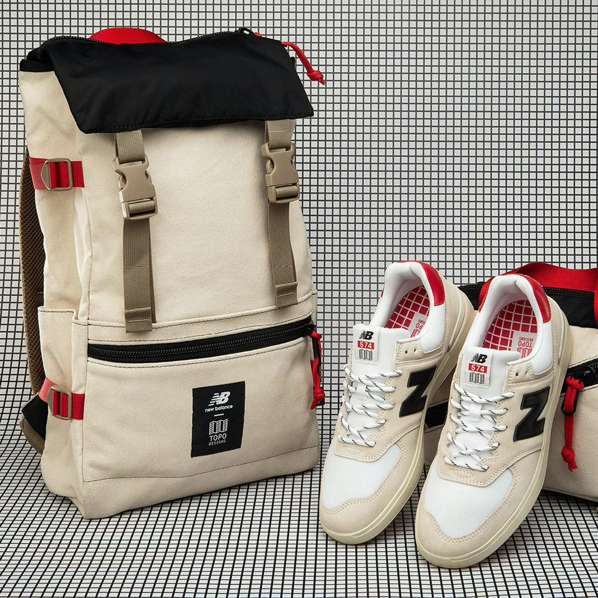 Topo Designs x New Balance Rover Pack, introductie van de Topo Designs x New Balans samenwerking