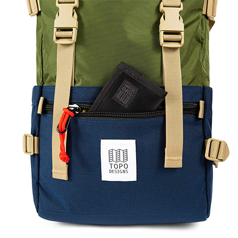 Topo Designs Rover Pack Classic, detail voorvak