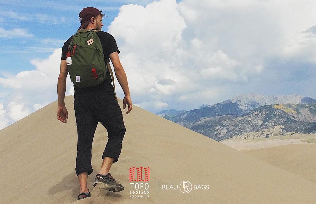Topo Designs Daypack Olive, sterke rugzak in 1000D Cordura met 15 inch laptopvak