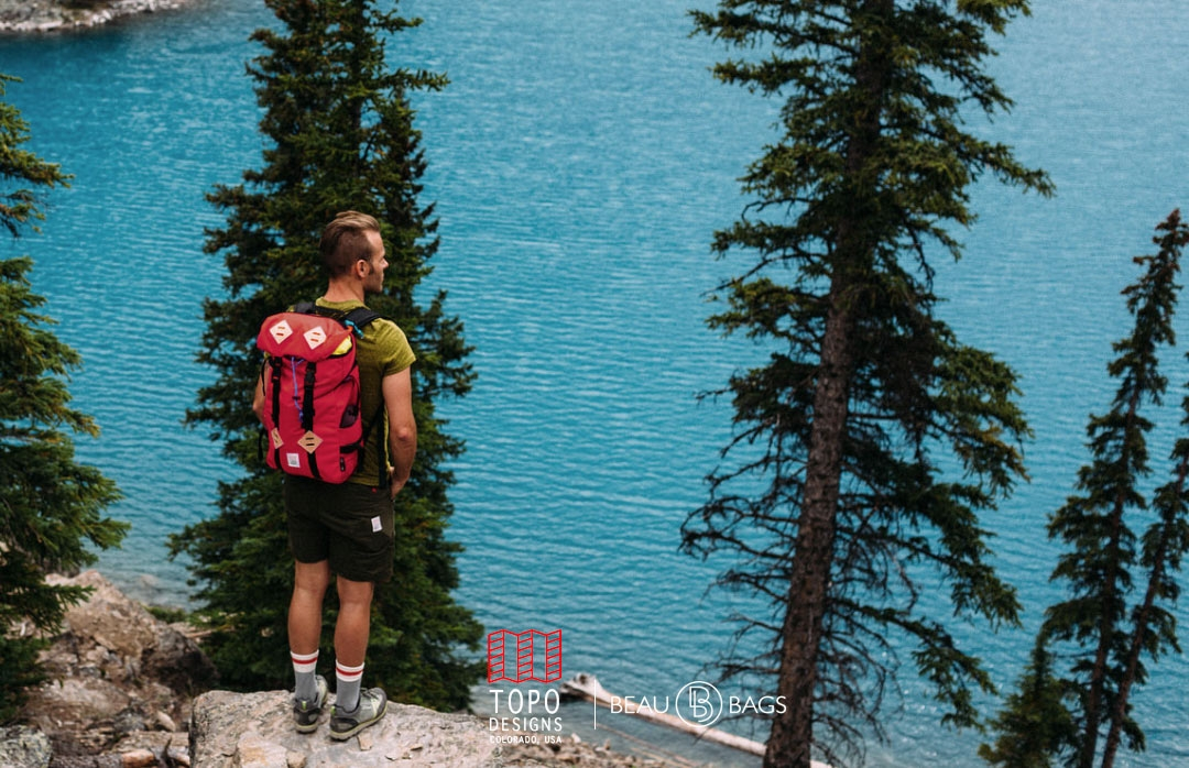 Topo Designs Klettersack Red Lifestyle