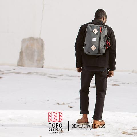 Topo Designs Mountain Briefcase Charcoal, de ultieme aktetas voor dagelijks gebruik