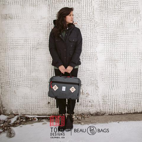 Topo Designs Mountain Briefcase Charcoal, voor naar je werk, in de stad of een reis rond de wereld