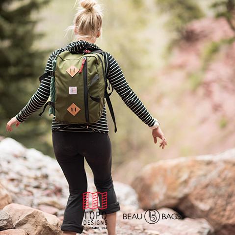 Topo Designs Mountain Briefcase Olive, voor naar je werk, in de stad of een reis rond de wereld