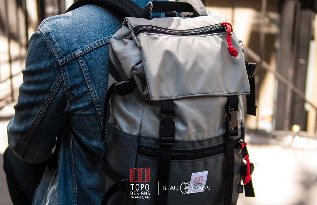 Topo Designs Rover Pack Silver Charcoal, perfecte rugzak voor dagelijks gebruik