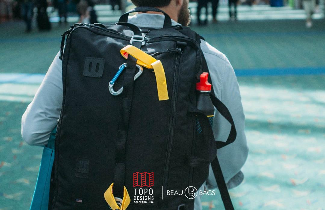 Topo Designs Travel Bag Ballistic Black, geweldige reistas voor een reis voor een paar dagen of een reis die voor altijd duurt